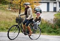 skjutsa på cykel